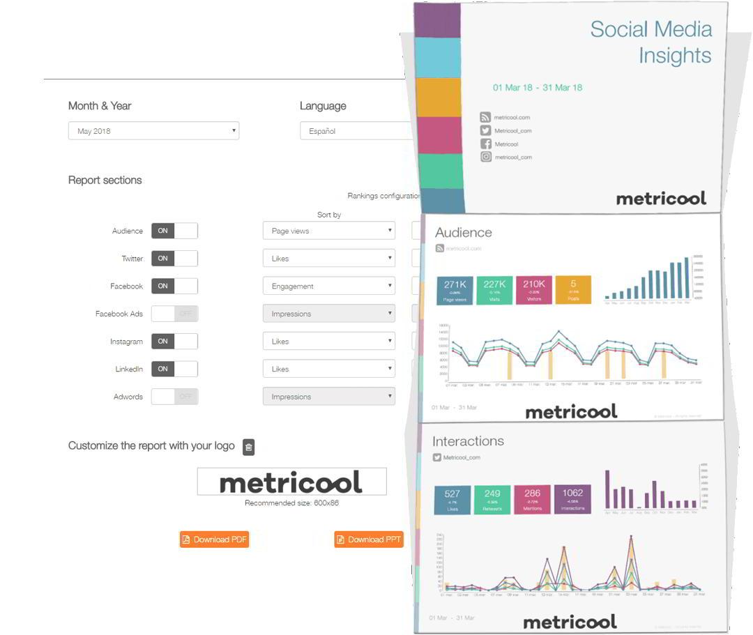 Metricool - Herramienta Redes Sociales Máster Marketing Digital en Murcia de ENAE