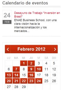 Próximos eventos ENAE. Semana 20-25 febrero