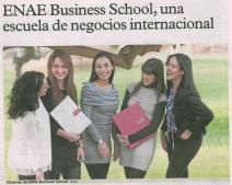 Especial Formación publicado en el diario La Verdad sobre ENAE Business School, Escuela de Negocios Internacional