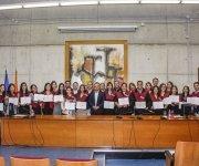 Foto grupal graduación promoción Másters semipresenciales 2016-2017