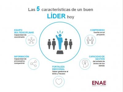 Infografía características del buen líder ENAE