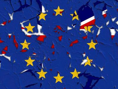 Brexit - Bandera que representa la salida Reino Unido de