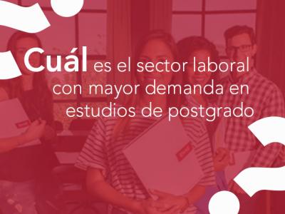 ¿Cuál es el sector laboral con mayor demanda en estudios de postgrado?