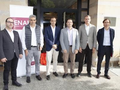 Los ponentes de la jornada con Directores generales