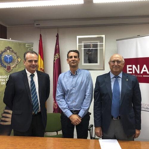 Nuevo convenio de colaboración entre ENAE Business School y el Colegio de Agentes Comerciales de Murcia