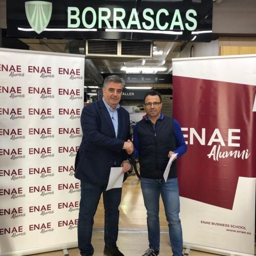 Firma de convenio entre ENAE y Bicicletas Borrascas